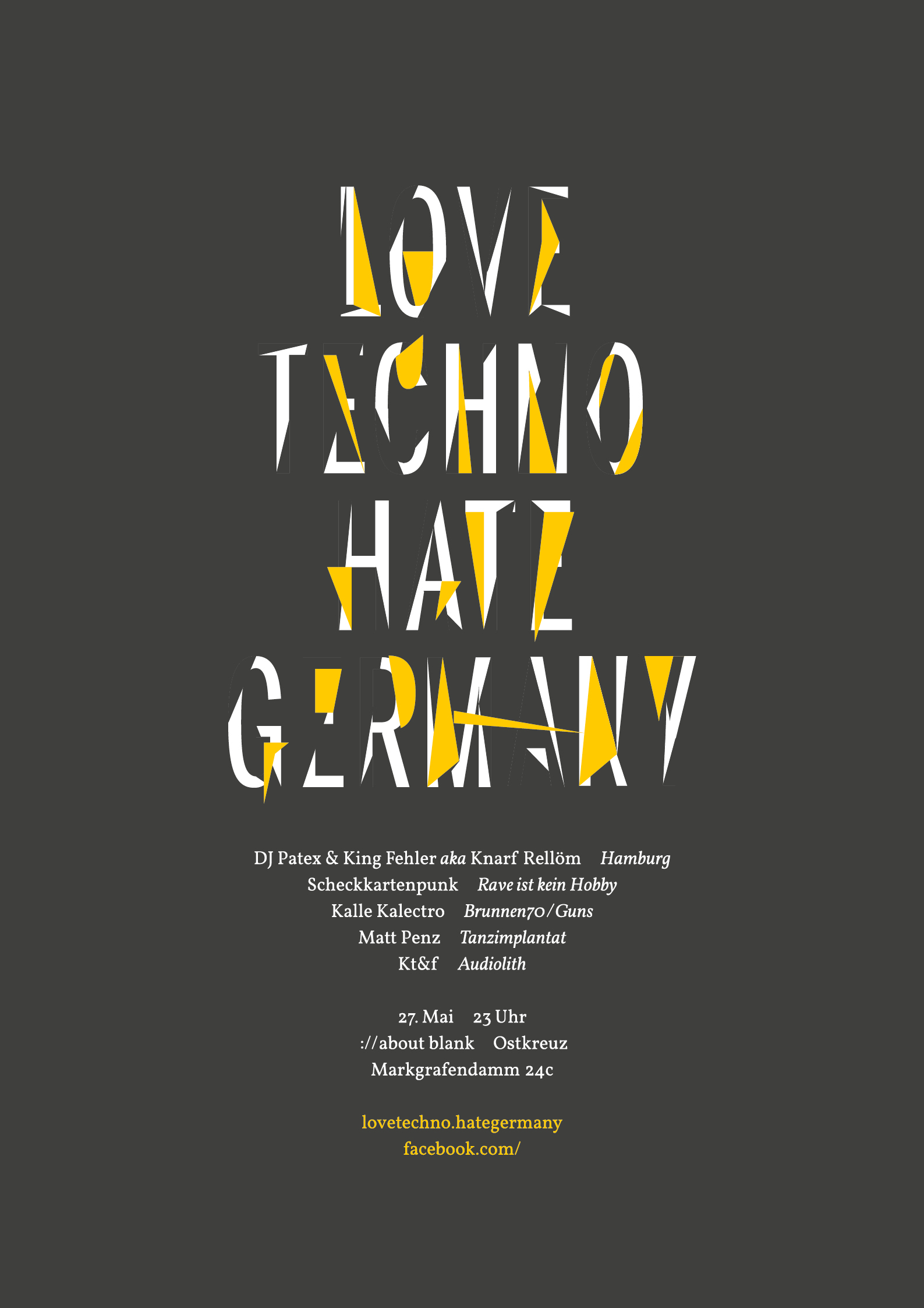 love techno - hate germany